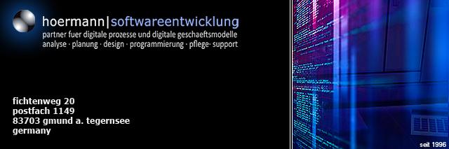 hoermann softwareentwicklung, it-service, it-management, netzwerke, systemadministration, strategieberatung, technologieberatung, datenschutz, datensicherheit, gmund bei münchen